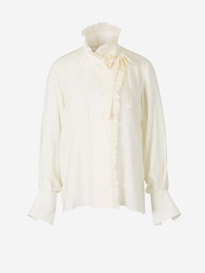 Crossed Ruffle Shirt