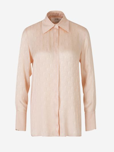 Jacquard Satin Shirt