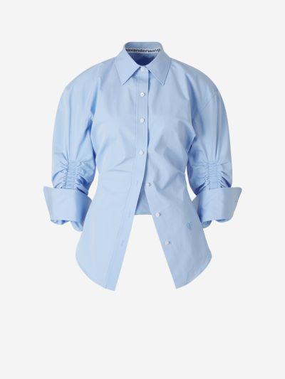Camisa Manga frunzida