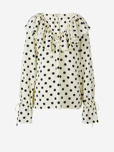 Ruffled Polka Dot Blouse
