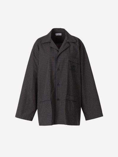 Camisa Oversized Micro Tartán