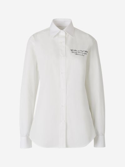 Embroidered Logo Poplin Shirt