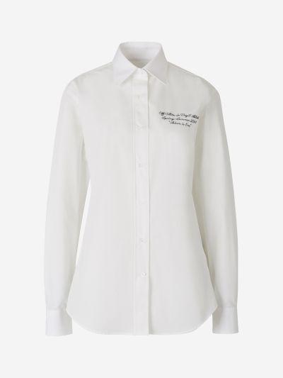 Camisa Popelina Logotip Brodat