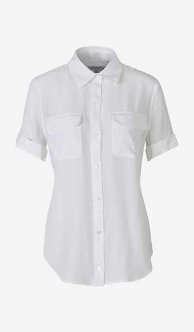 Short Sleeve Silk Shirt
