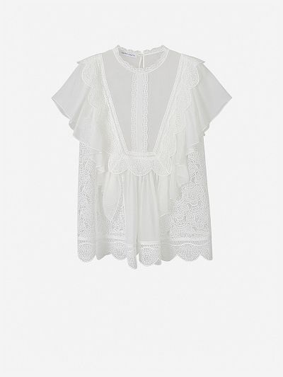Chiffon and Guipure Blouse