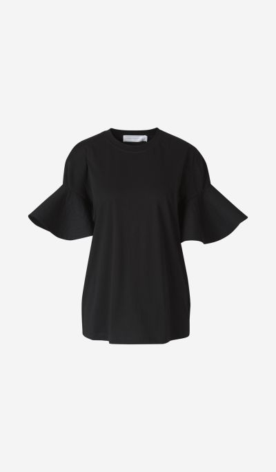 Poplin Sleeve T-Shirt