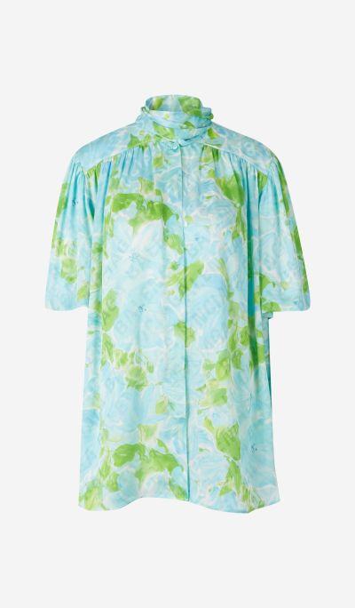 Silk Floral Jacquard Shirt