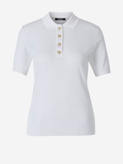 Knit Button Polo Shirt