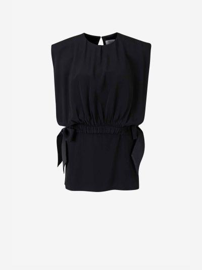 Blusa Crepé Bib Top