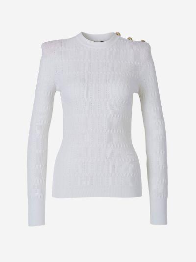Knit Button Polo Shirt