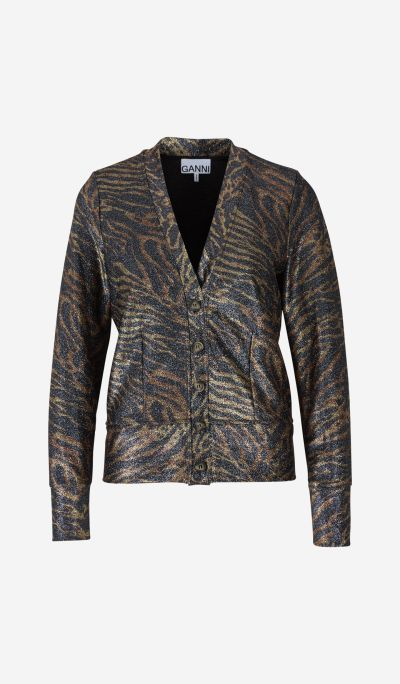 Lurex Animal Cardigan
