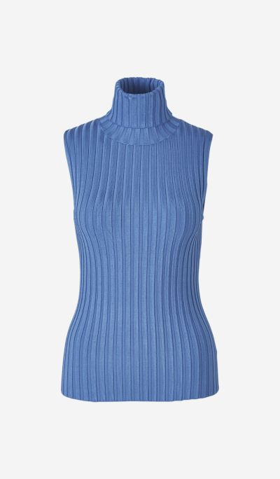 Sleeveless Ribbed Jersey
