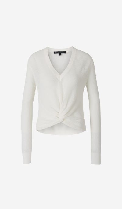 V-neck jumper with Knot