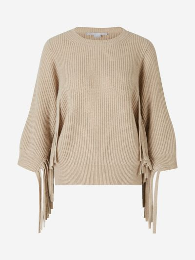 Ribbed Fringed Jumper