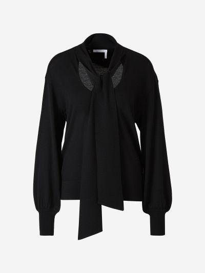 Lavallière Wool Sweater