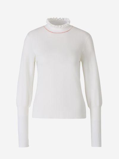 Ruffles Neck Sweater