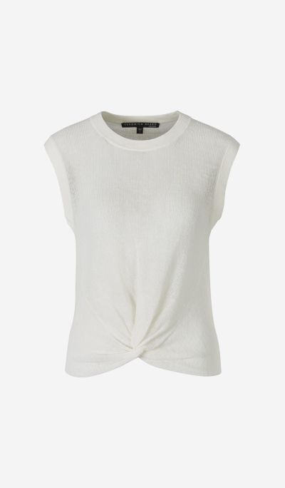 Sleeveless jumper with Knot
