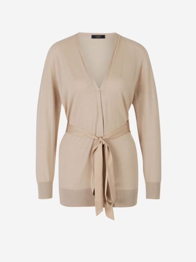 Satin Belt Cardigan