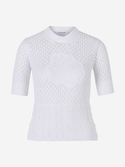 Short Sleeved Cotton Sweater