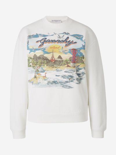 Island Print Sweatshirt
