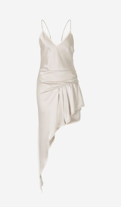 Asymmetrical satin lingerie jumpsuit
