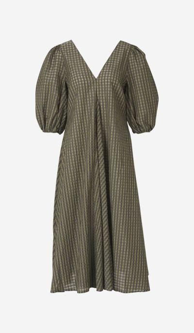 Seercurcker checkered dress