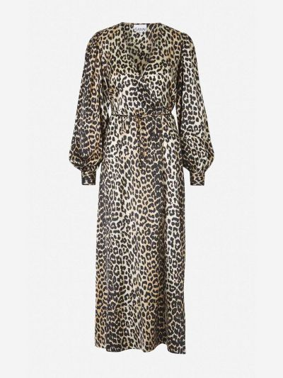 Vestido Cruzado Estampado Leopardo