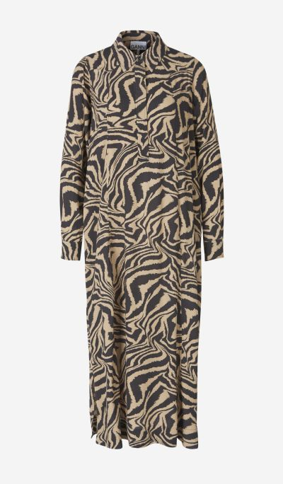 Animal print crepe dress