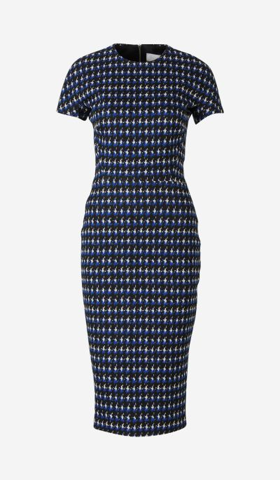 Houndstooth Jacquard Dress