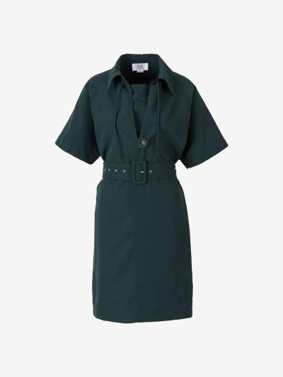 Taffeta Shirtdress
