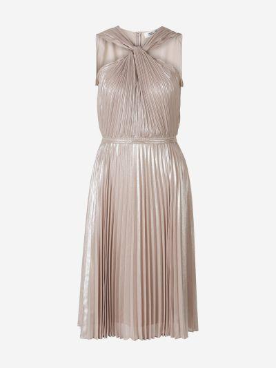 Vestido Metalizado Plisado