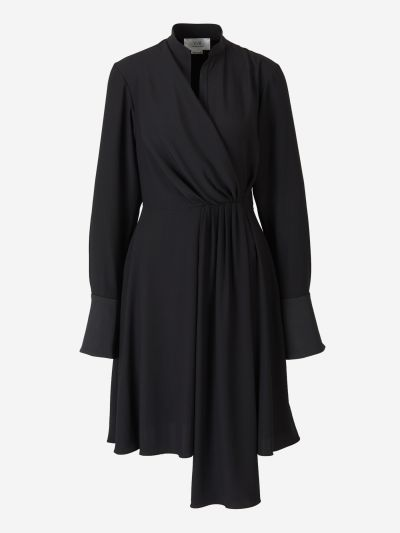 Mini vestido drapeado