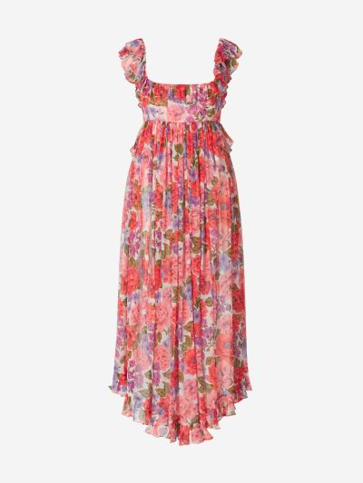 Poppy Floral Georgette Dress