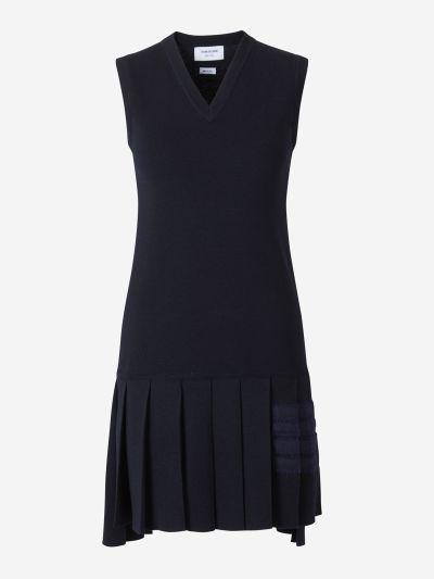 Pleated Merino Wool Dress