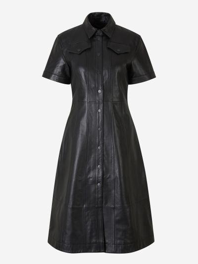 Leather Shirt Dress