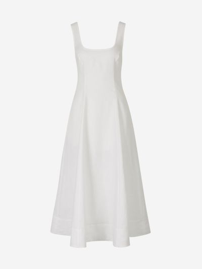 Linen Open Back Dress