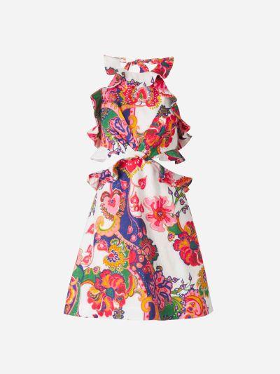 Floral Linen Halter Jumpsuit