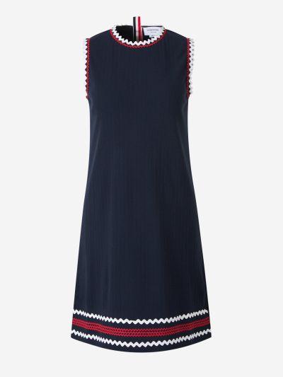 Contrasting Trims Dress