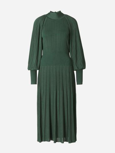 Vestido Plisado Midi