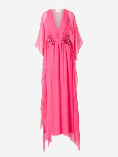 Tunic Dress Chiffon Rhinestone