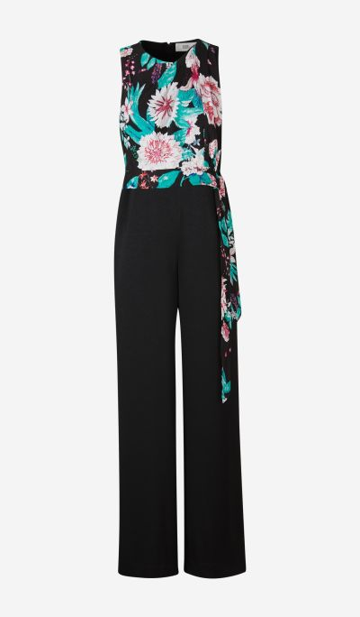 Vivian Jumpsuit with Floral Body
