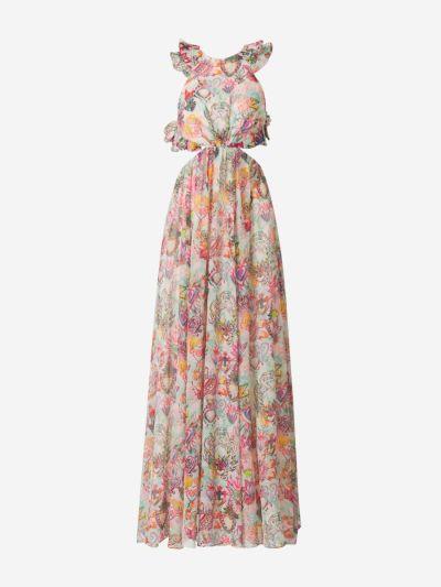 Ruffled Printed Maxi Dress