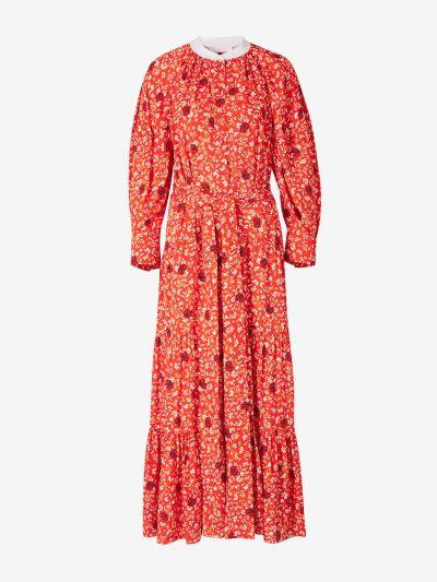 Vestido Largo Estampado 'C Flor'