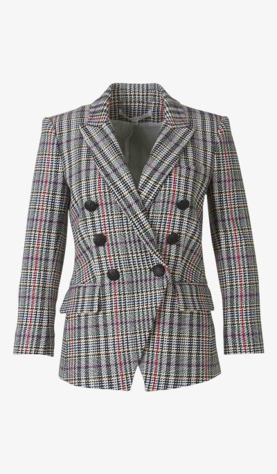 Multicoloured Houndstooth Blazer