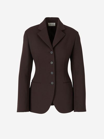 Straight-cut Wool Blazer