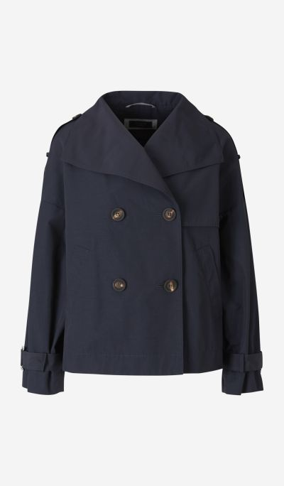 Short Double-Breasted Trenchcoat