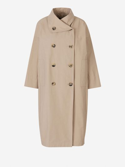 Cotton Wrap Trench Coat