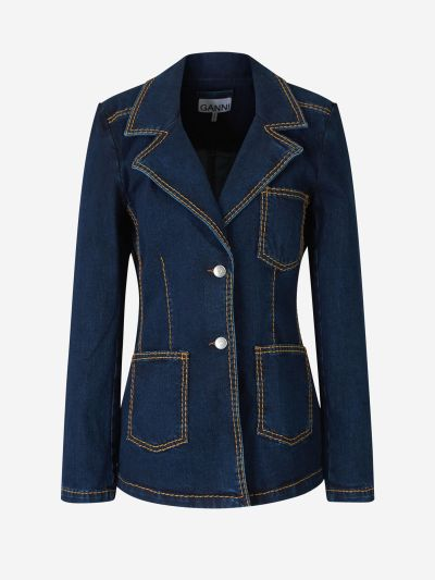Blazer Denim Pespunts
