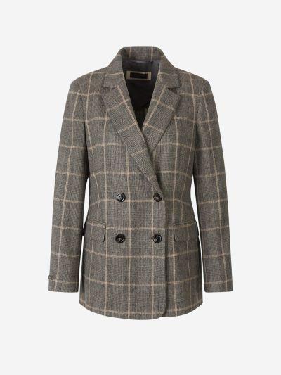 Checked Wool Blazer