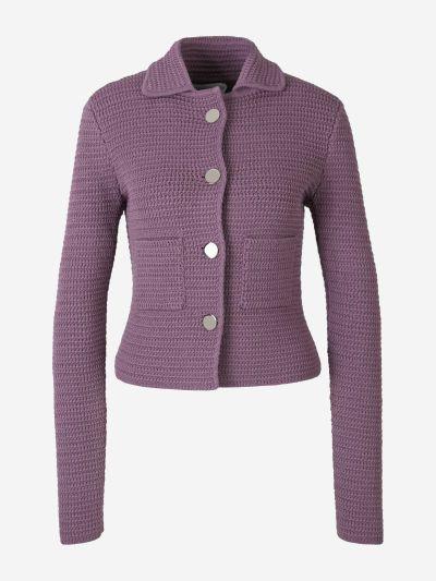 Buttoned Crochet Jacket